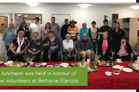 Bethanie volunteers in the spotlight