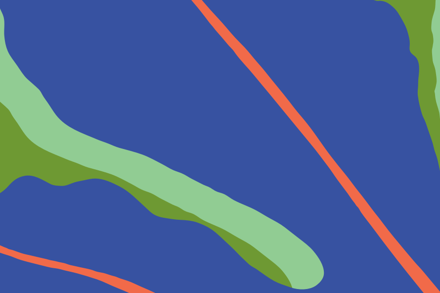 Abstract image with lines in Bethanie's colours.